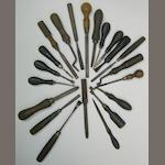 A group of gunmakers tools (qty.)