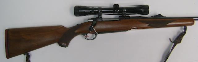 A .243 (Win) 'M77' sporting rifle by Sturm, Ruger & Co., no. 770-93887 In a Brady canvas slip