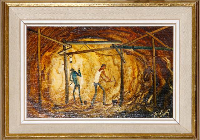 Frank Harding (Australian, b.1935) 'Opal Miners'