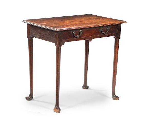 An 18th century oak side table