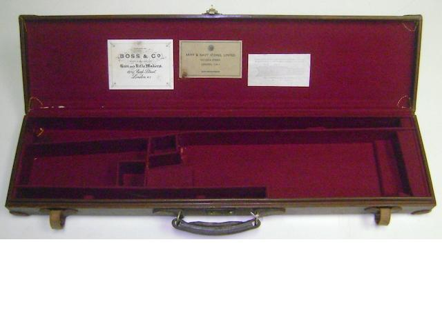 An Army & Navy light-weight leather single-guncase