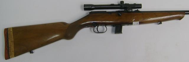 A .22 (L.R.) bolt-action/semi-automatic rifle by P. Beretta, no. C19870