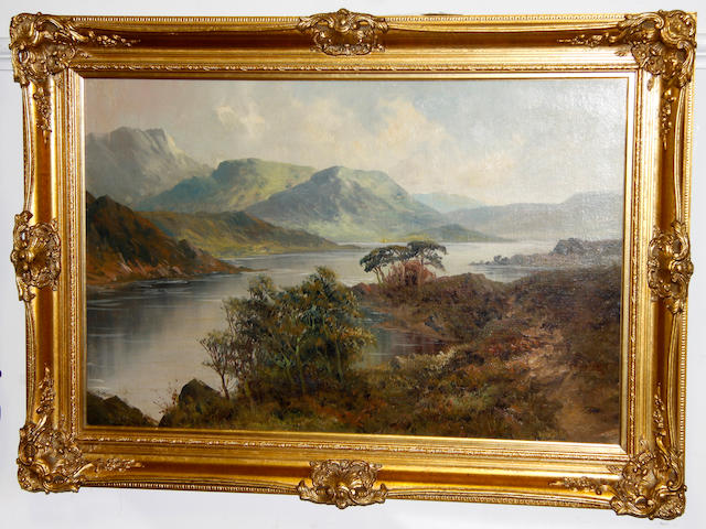 William Lakin Turner (British, 1867-1936) View over Buttermere Lake