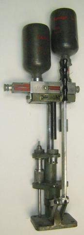 A W.J. Bowman & Sons (Tuxford) three-stage reloading press