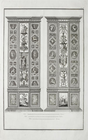 After Raffaello Sanzio, called Raphael From the Loggia del Vaticano, set of twelve engravings by Carlo Lasinio