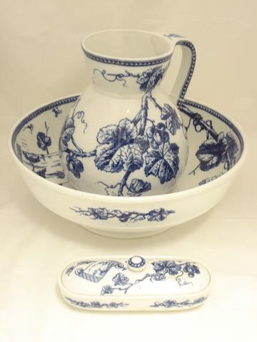 Three 'Champagne' pattern wash sets by Batkin, Walker & Broadhurst Circa 1840-45