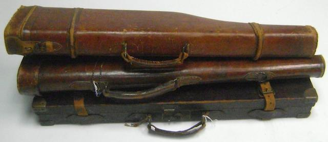 A brass-mounted leather case (3)