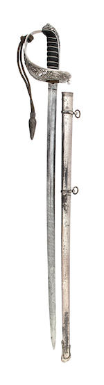 A Cased Silver Hilted Presentation Sword of the Artists Rifles