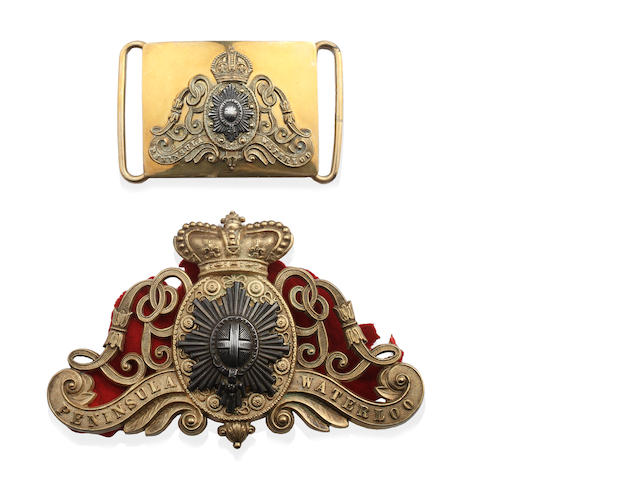 Life Guards a Victorian period Trooper's Pouch Ornament & a post 1902 Waist Belt Plate