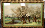B.S.Strachan (20th Century) The four seasons landscape watercolours,