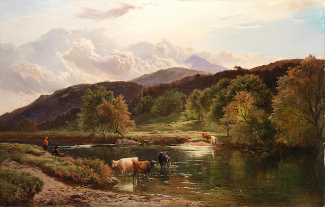 Sidney Richard Percy (British, 1821-1886) On the Llugwy near Capel Curig