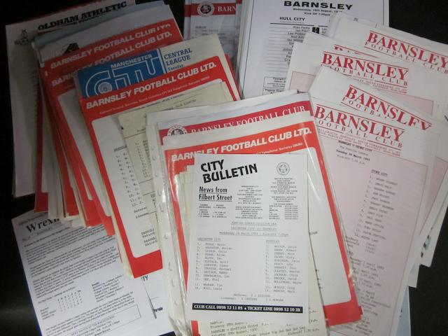 1980-2000 Barnsley home and away reserves programmes, plus others