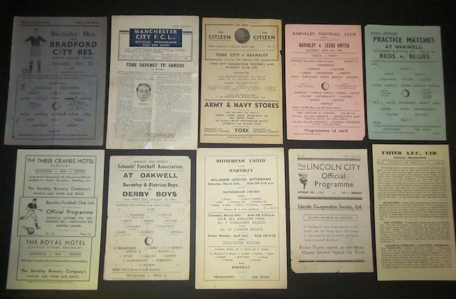 1940's Barnsley programmes
