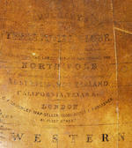 A 20-inch G. F. Cruchley terrestrial library globe,  English,  published 1859,