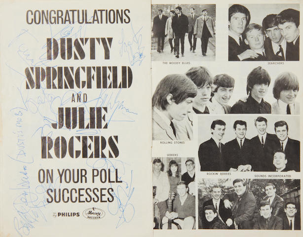The Rolling Stones: An autographed N.M.E. '1964-1965 Annual Poll-Winners All-Star Concert' programme, 1965,