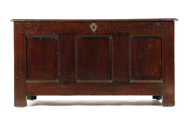 An 18th century oak coffer
