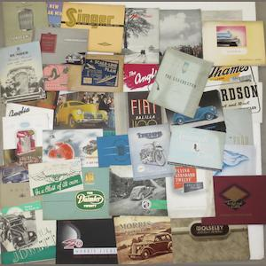 A collection of cars sales brochures, 1930s-40s,