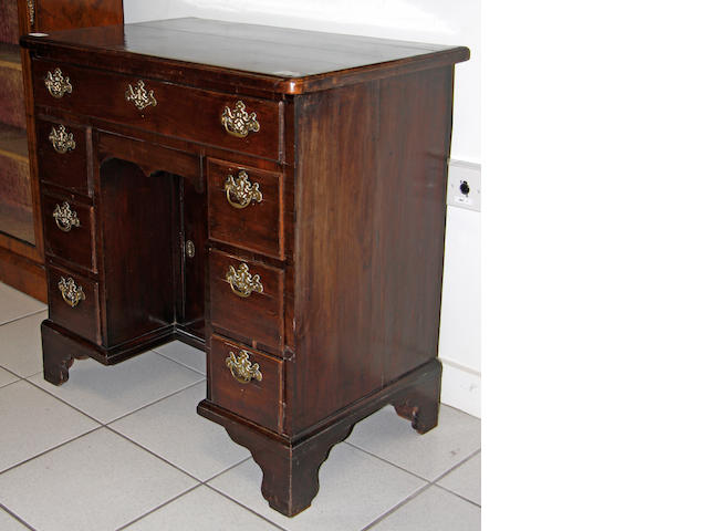 A George III mahogany kneehole desk