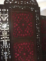 A large and impressive five-fold dressing screen Mid 19th century