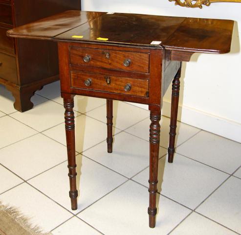 George IV mahogany work table
