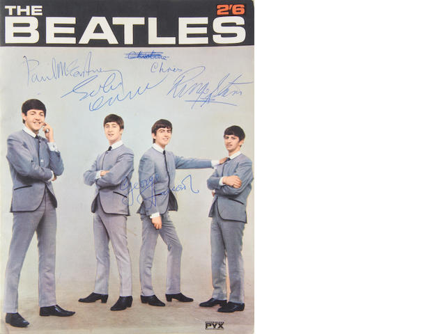 The Beatles: A rare autographed copy of the booklet, 'The Beatles', 1963,