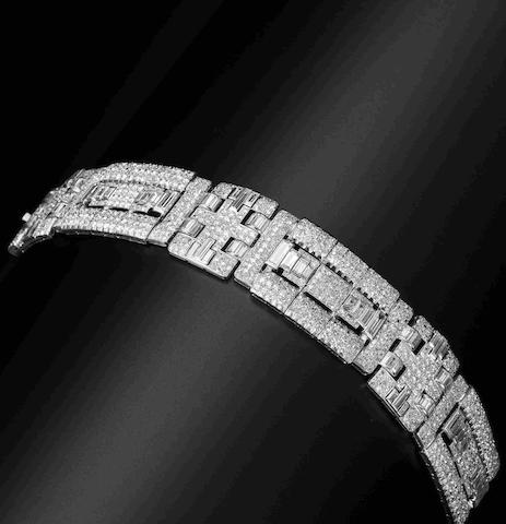 An art deco diamond bracelet, by Chaumet,