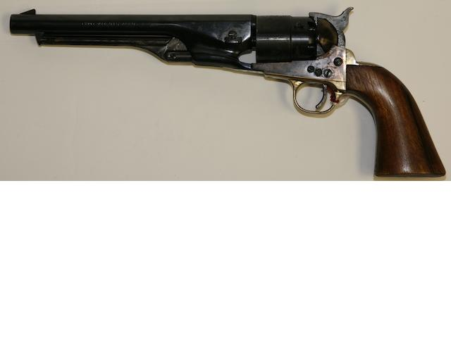A reproduction .44 'Model 1860 Army' percussion revolver by Uberti, no. 32800 Retailed by Hilton Gun Company