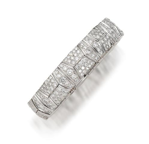 A diamond bracelet,  by Cartier