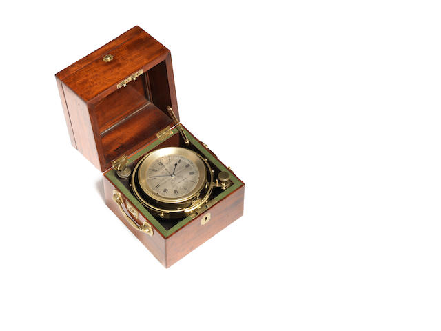 A good mid 19th century mahogany cased two-day marine chronometer  Parkinson and Frodsham, number 2562