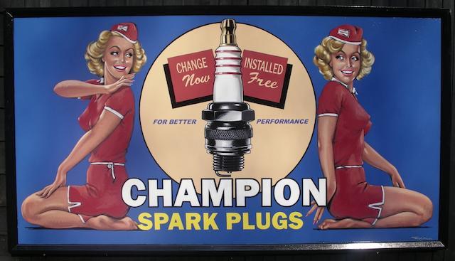 Tony Upson, 'Champion Spark Plugs Ladies',