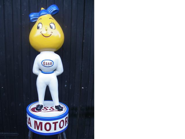 A hand-painted Miss Drip standing forecourt figure,