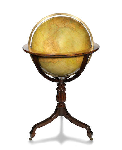An impressive 25-inch G Thomas terrestrial library  globe, French, mid 19th century,
