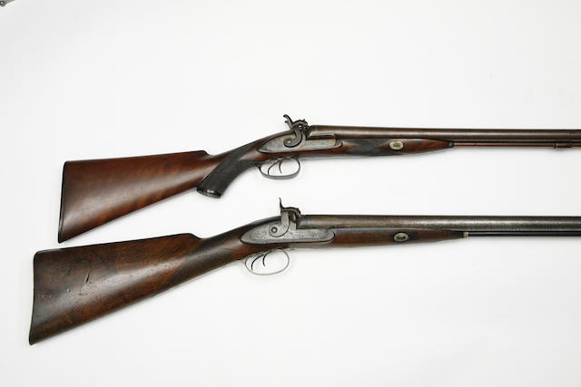 A 13-Bore D.B. Percussion Sporting Gun, And Another Of 10-Bore