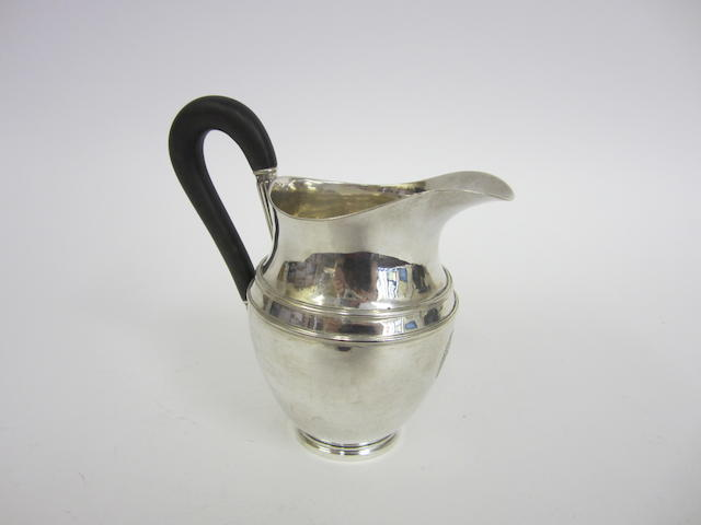 An Austrian silver milk jug Vienna 18?1, AW, A over TF