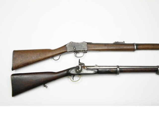 A 16-Bore 1856 Pattern Percussion Cavalry Carbine, And A .577/450 Martini Henry Mark III Service Rifle