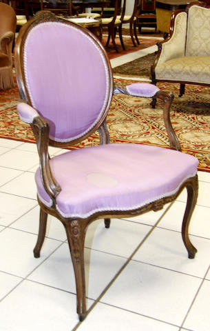 A Louis XV style fauteuil 19th Century