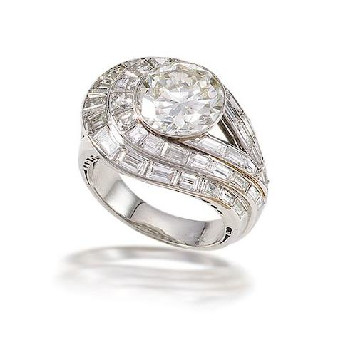 A diamond dress ring, by Clerc,