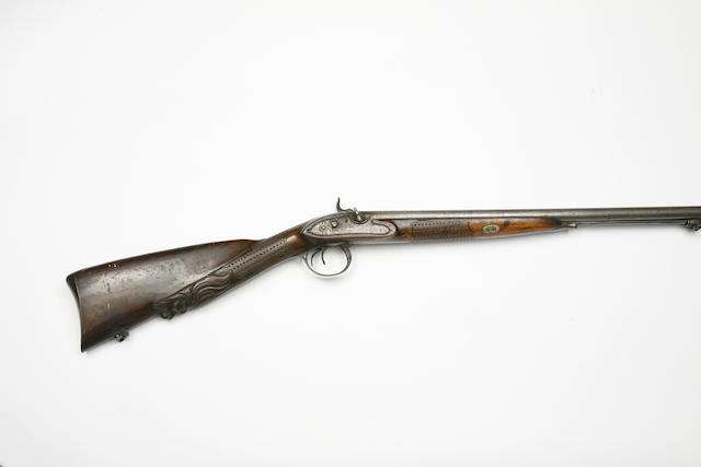 A Belgian 18-Bore D.B. Percussion Sporting Gun, And Three Continental Breech-Loading Pin-Fire Sporting Guns