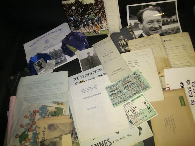 A collection of ephemera from the career of Chelsea's Dick Spence