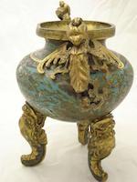 A cloisonné enamel tripod censer 17th/18th century
