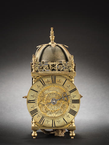 A late 17th/early 18th century miniature lantern alarm timepiece Daniel Robinson, London