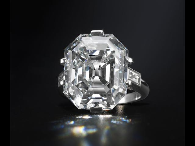 An elegant diamond single-stone ring,