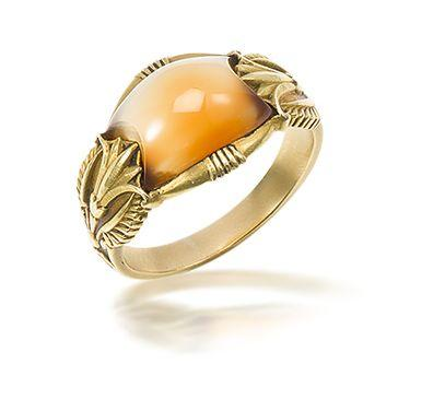 An hardstone ring, by René Boivin,
