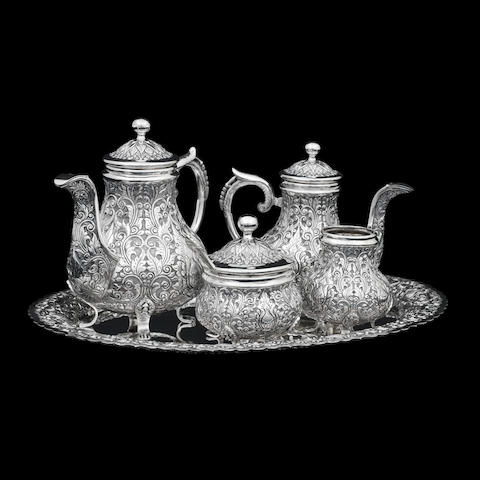 A Yogya silver five piece silver tea service stamped ZN:800, Delux