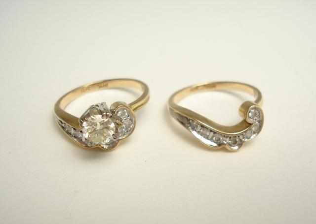 Two diamond rings