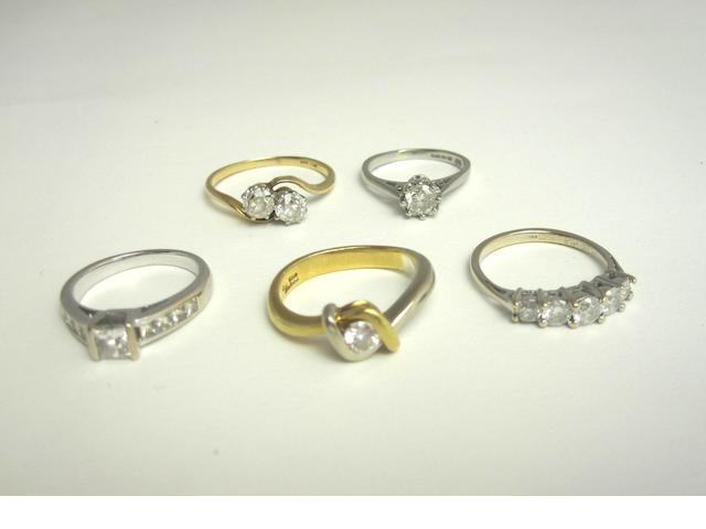 A collection of diamond rings