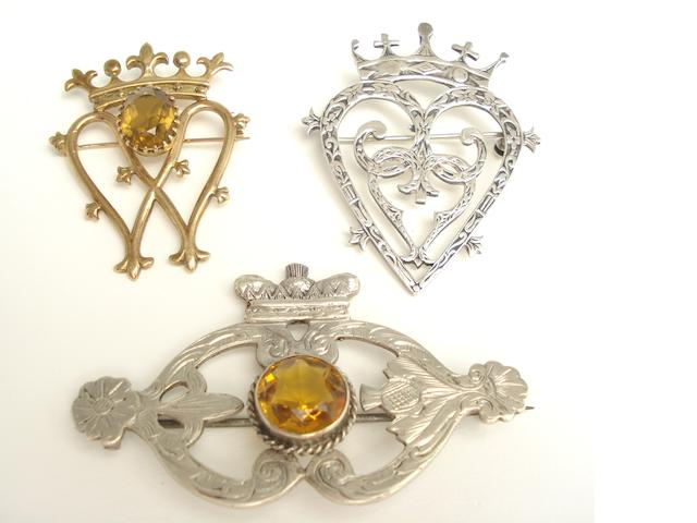 Three Scottish brooches