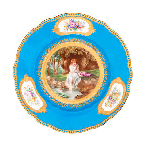 A collection of twenty three porcelain dessert plates retailed by Daniell, London Mid 19th century