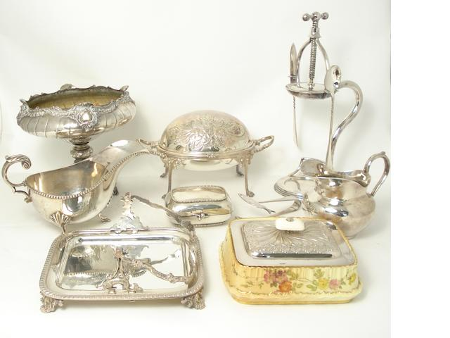 A collection of plated ware