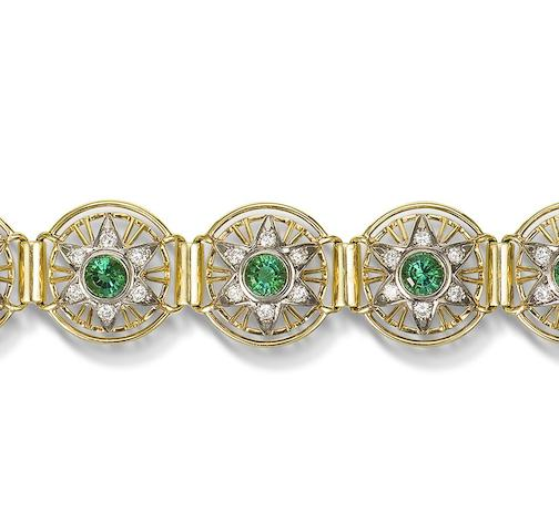 A tourmaline and diamond bracelet